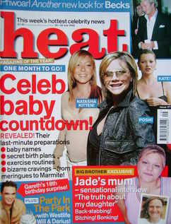 Heat magazine - Celeb Baby Cowntdown cover (20-26 July 2002 - Issue 177)