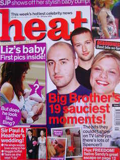 Heat magazine - Big Brother's 19 Sauciest Moments! cover (22-28 June 2002 - Issue 173)