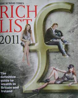 The Sunday Times Rich List 2011 magazine