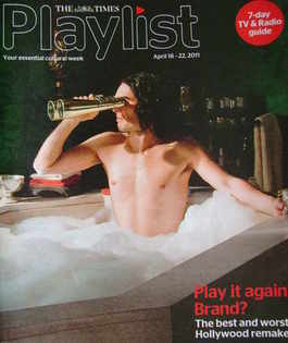 The Times Playlist magazine - 16 April 2011 - Russell Brand cover