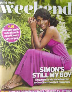<!--2011-04-30-->Weekend magazine - Sinitta cover (30 April 2011)