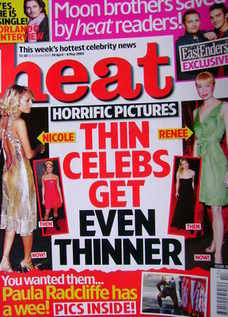 <!--2005-04-30-->Heat magazine - Thin Celebs Get Even Thinner cover (30 Apr