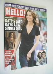 <!--2011-05-01-->Hello! magazine - Kate Middleton cover (1 May 2011 - Issue