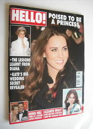 <!--2011-04-18-->Hello! magazine - Kate Middleton cover (18 April 2011 - Is