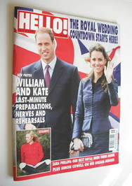 <!--2011-04-25-->Hello! magazine - Prince William and Kate Middleton cover