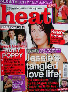 Heat magazine - Jessie Wallace cover (30 March - 5 April 2002 - Issue 161)
