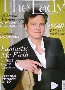 The Lady magazine (22 February 2011 - Colin Firth cover)