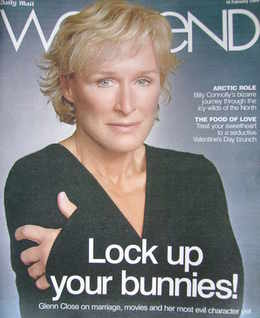 Weekend magazine - Glenn Close cover (14 February 2009)