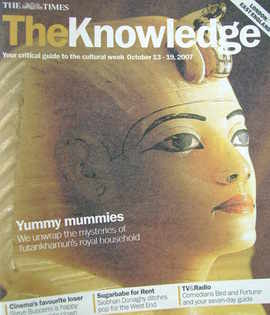 The Knowledge magazine - 13-19 October 2007 - Yummy Mummies cover