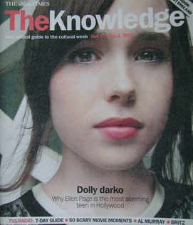 The Knowledge magazine - 27 October - 2 November 2007 - Ellen Page cover