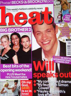 Heat magazine - Will Young cover (1-7 June 2002 - Issue 170)