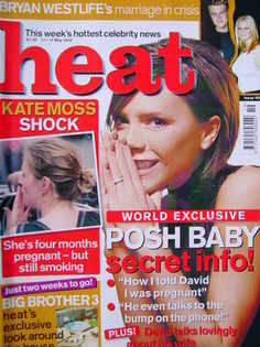 <!--2002-05-11-->Heat magazine - Victoria Beckham cover (11-17 May 2002 - I