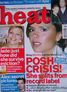 Heat magazine - Victoria Beckham cover (8-14 June 2002 - Issue 171)