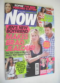 <!--2009-07-27-->Now magazine - Jennifer Aniston and Gerard Butler cover (2