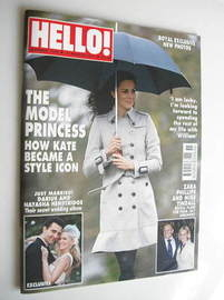 <!--2011-03-21-->Hello! magazine - Kate Middleton cover (21 March 2011 - Is