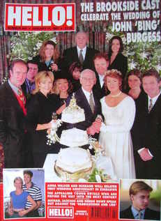 <!--1997-01-11-->Hello! magazine - John 'Bing' Burgess Wedding cover (11 Ja