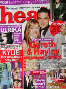 <!--2002-05-04-->Heat magazine - Gareth Gates and Hayley Evetts cover (4-10