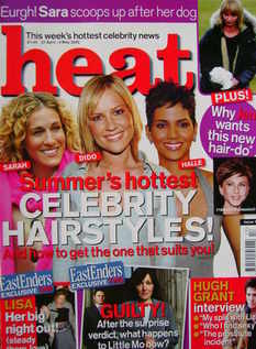 Heat magazine - Summer's Hottest Celebrity Hairstyles cover (27 April-3 May 2002)