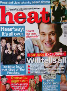 Heat magazine - Will Young cover (26 January-1 February 2002 - Issue 152)