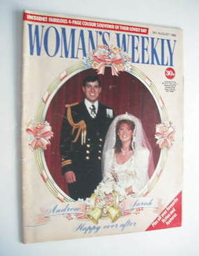 <!--1986-08-09-->Woman's Weekly magazine (9 August 1986 - Prince Andrew and