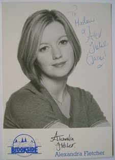 Alexandra Fletcher autograph (hand-signed photograph, dedicated)