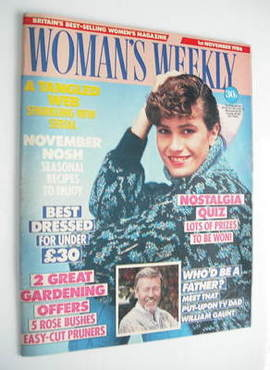 <!--1986-11-01-->Woman's Weekly magazine (1 November 1986 - British Edition