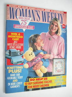 <!--1986-11-08-->Woman's Weekly magazine (8 November 1986 - British Edition