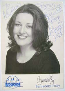 Bernadette Foley autograph (hand-signed photograph, dedicated)