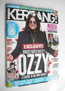 <!--2011-05-21-->Kerrang magazine - Ozzy Osbourne cover (21 May 2011 - Issu