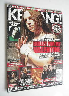 <!--2010-04-24-->Kerrang magazine - Bullet For My Valentine cover (24 April