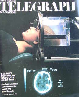 The Daily Telegraph magazine - Human Brain Scanner cover (23 January 1976)