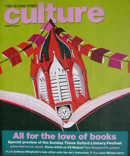 Culture magazine - All For The Love Of Books cover (16 March 2008)