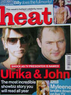 <!--2002-11-02-->Heat magazine - Ulrika Jonsson and John Leslie cover (2-8