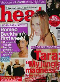 <!--2002-09-14-->Heat magazine - Tara Palmer-Tomkinson cover (14-20 Septemb