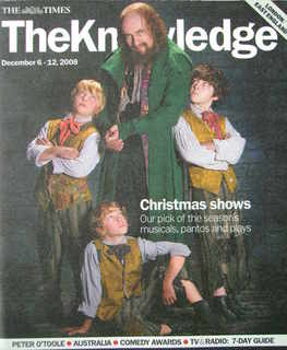 The Knowledge magazine - 6-12 December 2008 - Rowan Atkinson cover