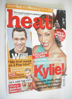 Heat magazine - Kylie Minogue cover (23 February - 1 March 2002)