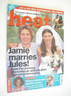 Heat magazine - Jamie Oliver and Jules Oliver cover (1-7 July 2000)