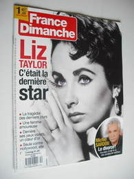 France Dimanche magazine - Elizabeth Taylor cover (25-31 March 2011)