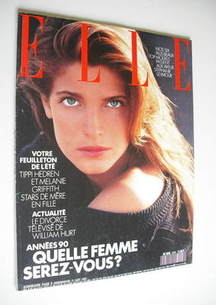 French Elle magazine - 21 August 1989 - Stephanie Seymour cover