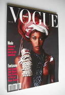 <!--1991-04-->French Paris Vogue magazine - April 1991 - Naomi Campbell cov