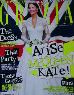 <!--2011-05-09-->Grazia magazine - Kate Middleton cover (9 May 2011)