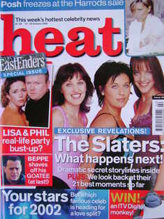 <!--2002-01-12-->Heat magazine - The Slaters: What Happens Next! cover (12-