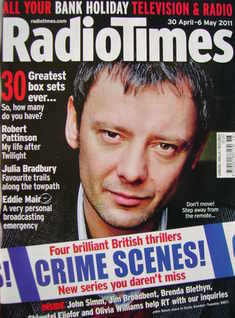 <!--2011-04-30-->Radio Times magazine - John Simm cover (30 April - 6 May 2