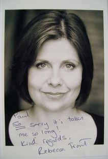 Rebecca Front autograph