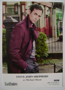 Steve John Shepherd autographed photo (EastEnders actor)