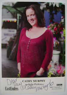 Cathy Murphy autograph (EastEnders actor)