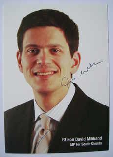 David Miliband autograph