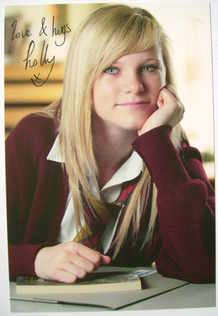 Holly Kenny autograph (hand-signed Waterloo Road cast card, dedicated)