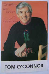 Tom O'Connor autograph