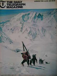 The Daily Telegraph magazine - Across The Alps cover (17 November 1967)